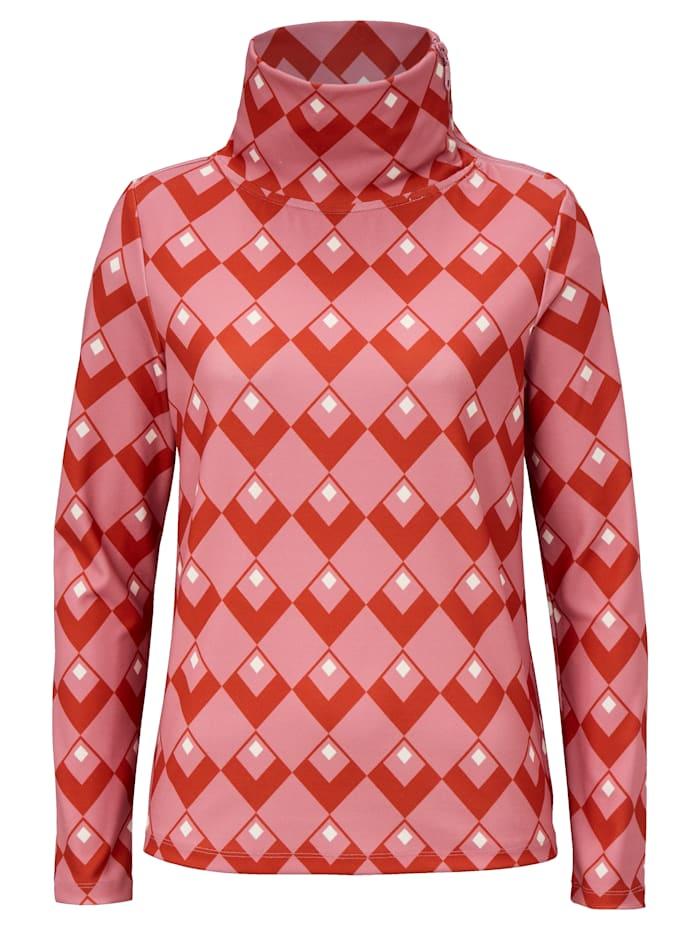 REKEN MAAR Sweatshirt mit Kelchkragen, Multicolor