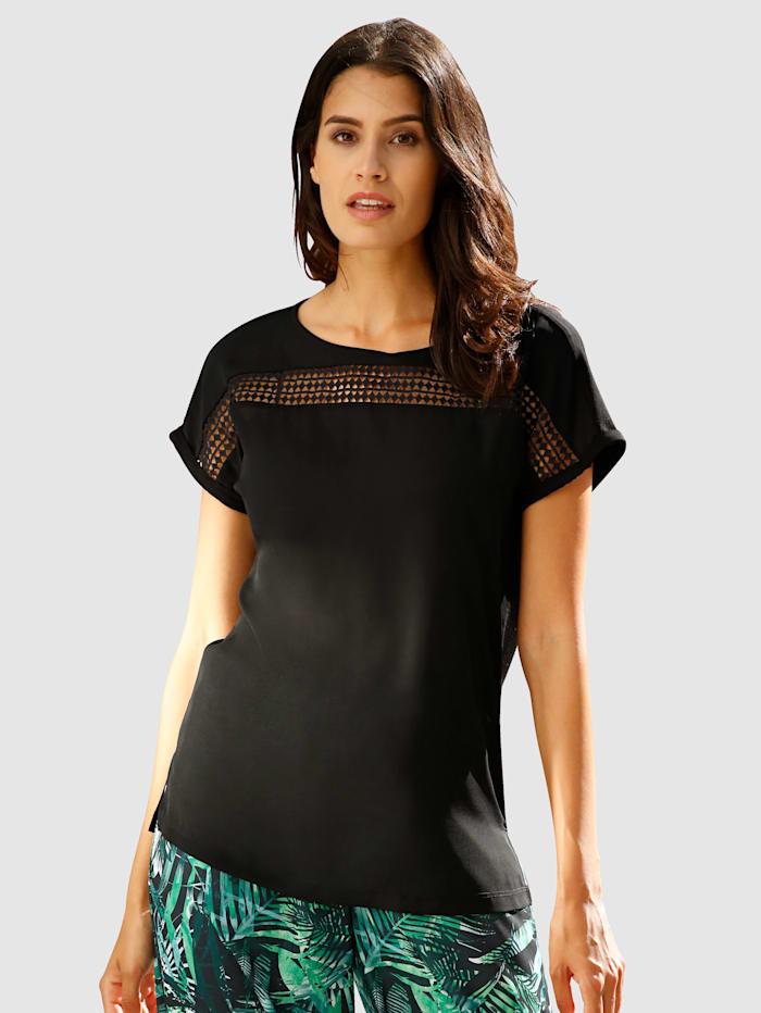 Tričko s krajkovými vsadkami