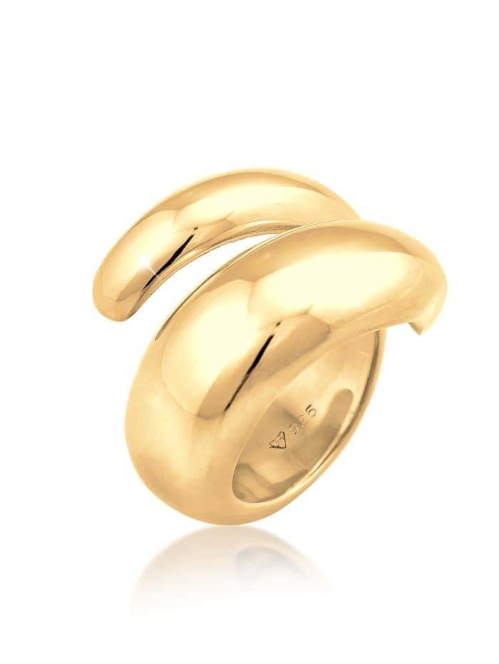 Nenalina Ring Wickelring Glänzend Modern Statement 925 Silber, Gold