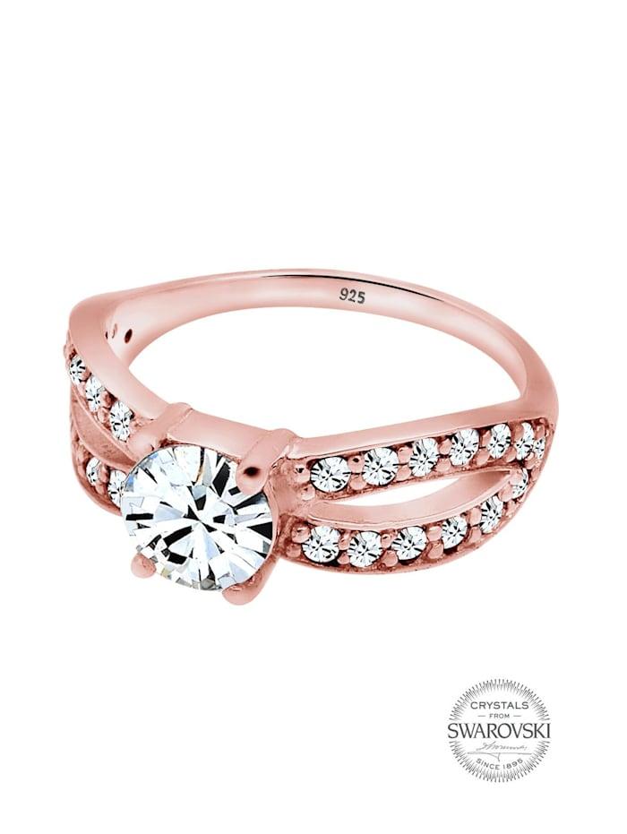 Ring Solitär Glamourös Swarovski® Kristall 925 Silber