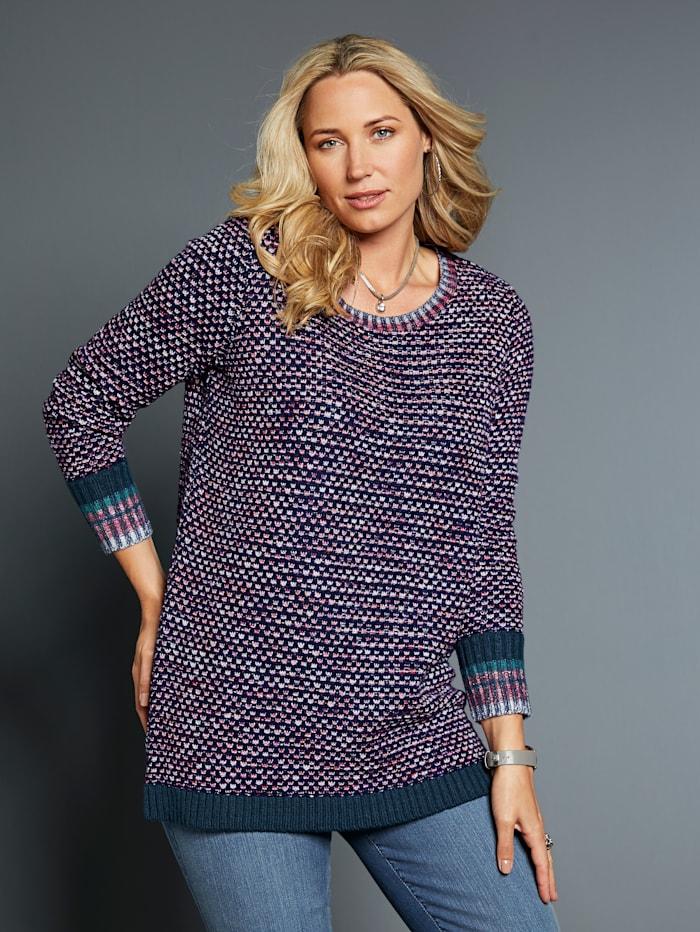 Pullover aus Melangegarn