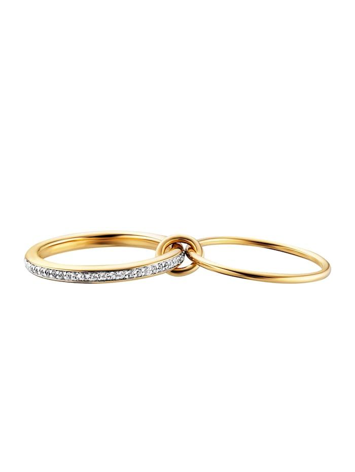 Ring 925/- Sterling Silber Topas weiß RHO+VGO 0,004ct/pc. 925/- Sterling Silber