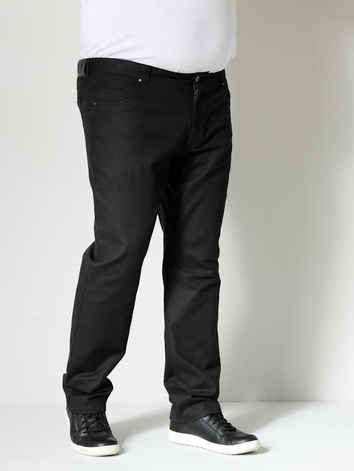 Men Plus Hose mit besonderer Struktur, Schwarz