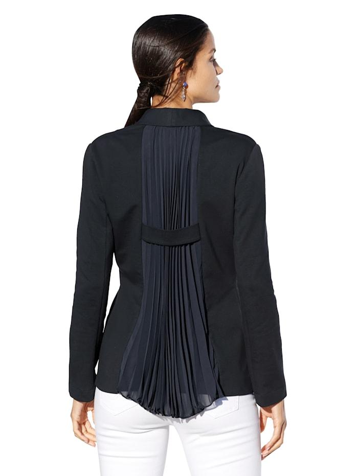 Jersey blazer met plisséplooien achter