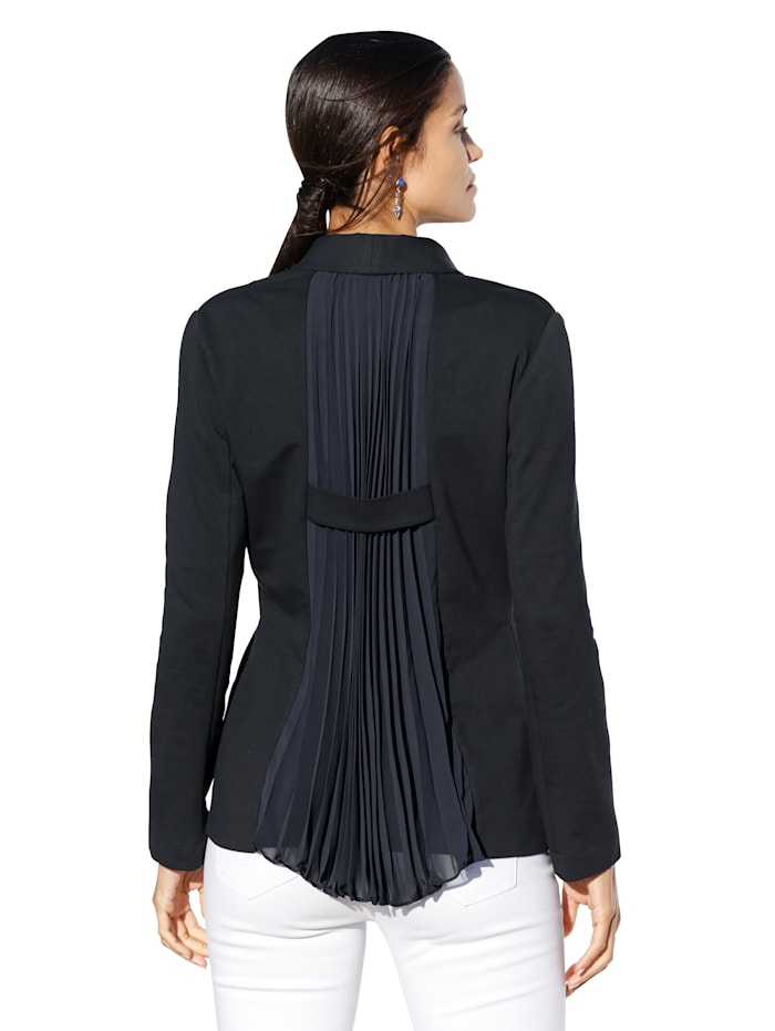 Jerseyblazer mit Plisseefalten im Rücken