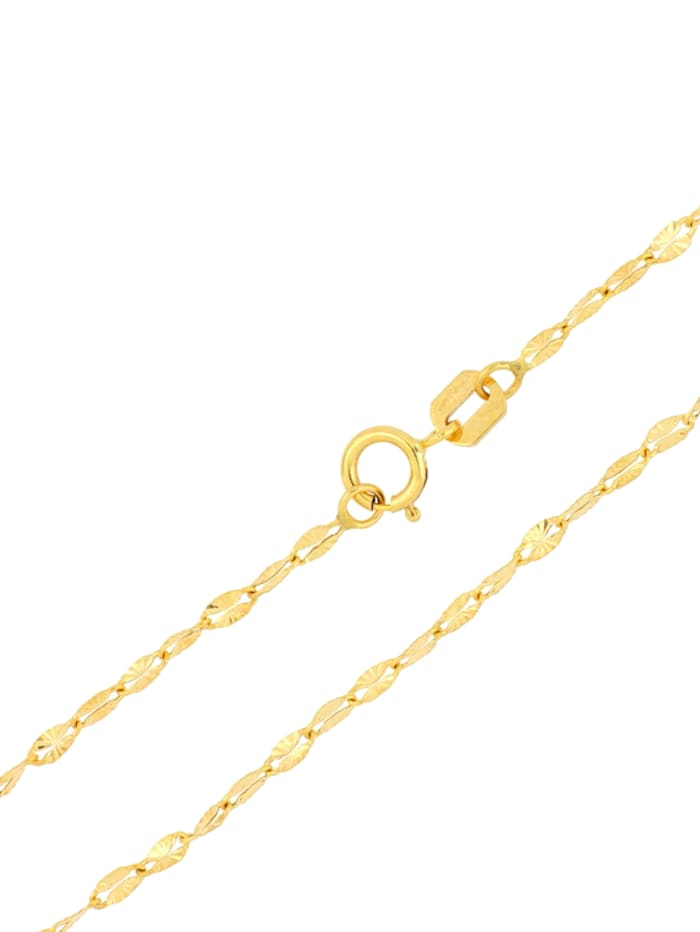Spiegelplättchenkette in Gelbgold