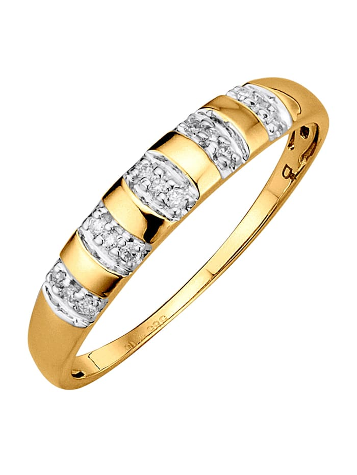 Amara Highlights Bague avec diamants, Blanc