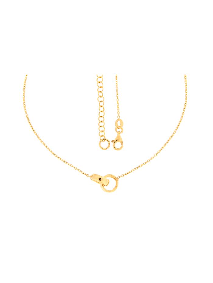 Grazielli Collier in Silber 925, vergoldet, Gelbgoldfarben