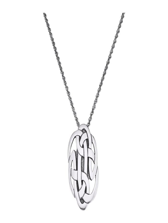 Ursula Christ Anhänger mit Kette 'Keltischer Knoten', Silberfarben