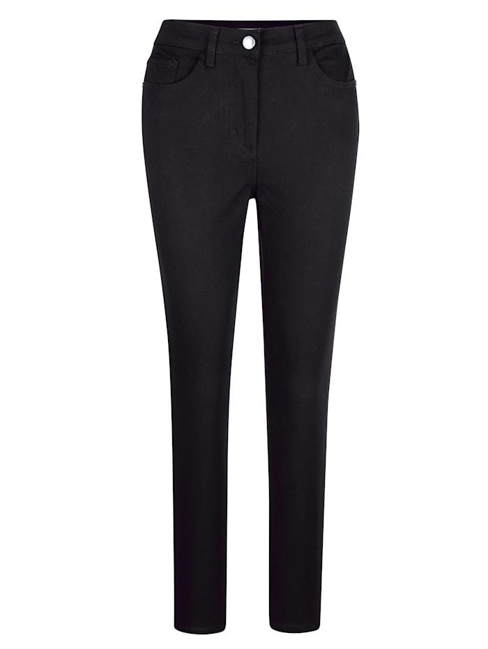 MONA Pantalon en matière extensible confortable, Noir