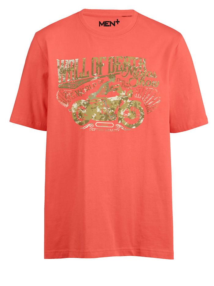 Men Plus Puuvillainen T-paita painokuviolla, Koralli