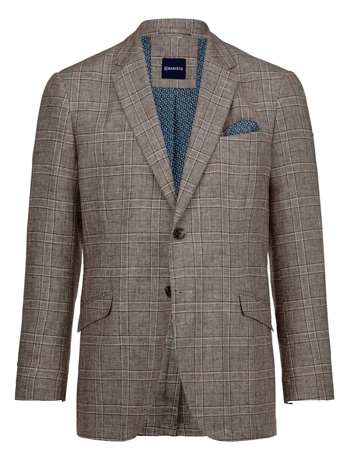 Babista Premium Veste de costume de style raffiné, Marron/Beige
