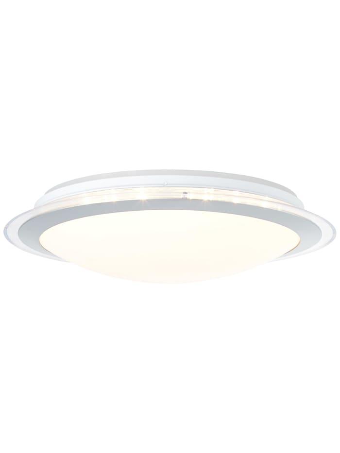 Brilliant Dinos LED Deckenleuchte 44cm weiß-silber, weiß-silber