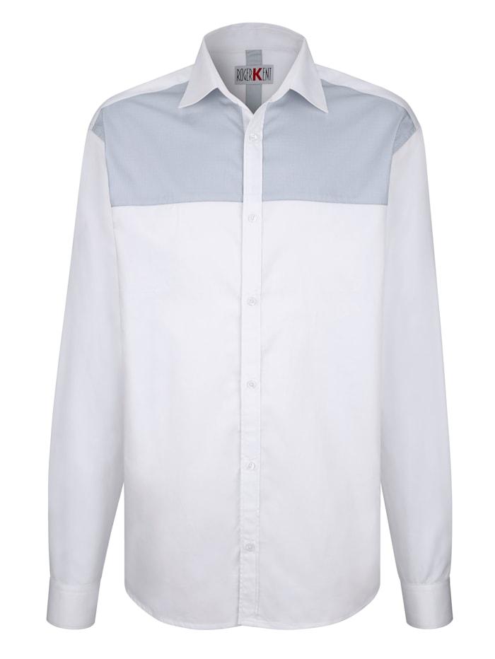 Roger Kent Overhemd met contrastinzet, Wit