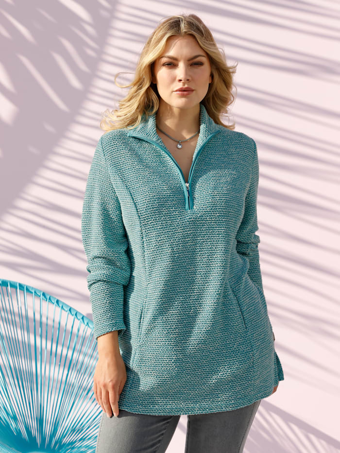 m. collection Sweatshirt in Troyerform, Mintgrün
