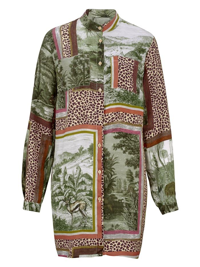 Lange blouse met exclusief dessin