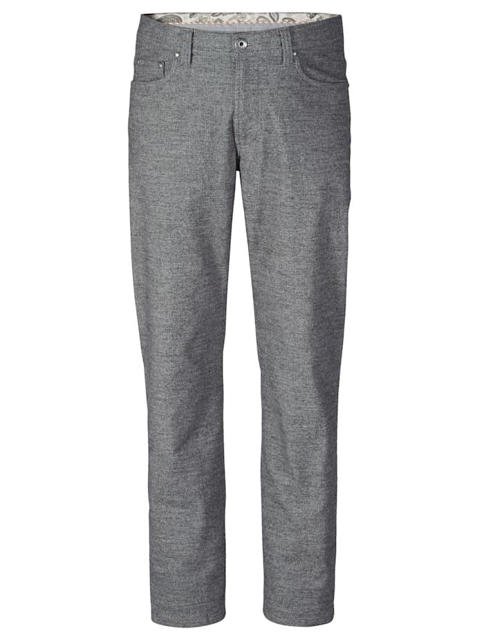 BABISTA Pantalon d'aspect laine bicolore, Gris/Blanc
