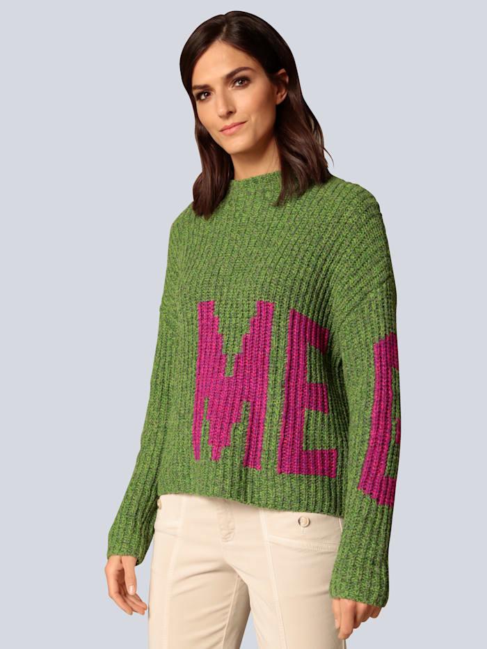 OUI Pullover mit Kontrasten, Grün