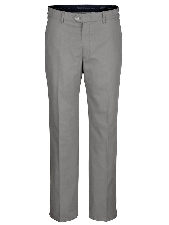 Brühl Pantalon sans pinces avec MOVER High Stretch, Gris clair