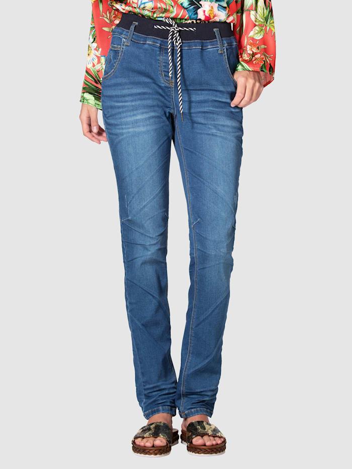 Jeans mit rundum Gummibund und Tunnelzug
