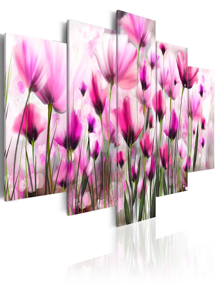 artgeist Wandbild Geheimnisvoller Garten, Weiß,rosa,Grün