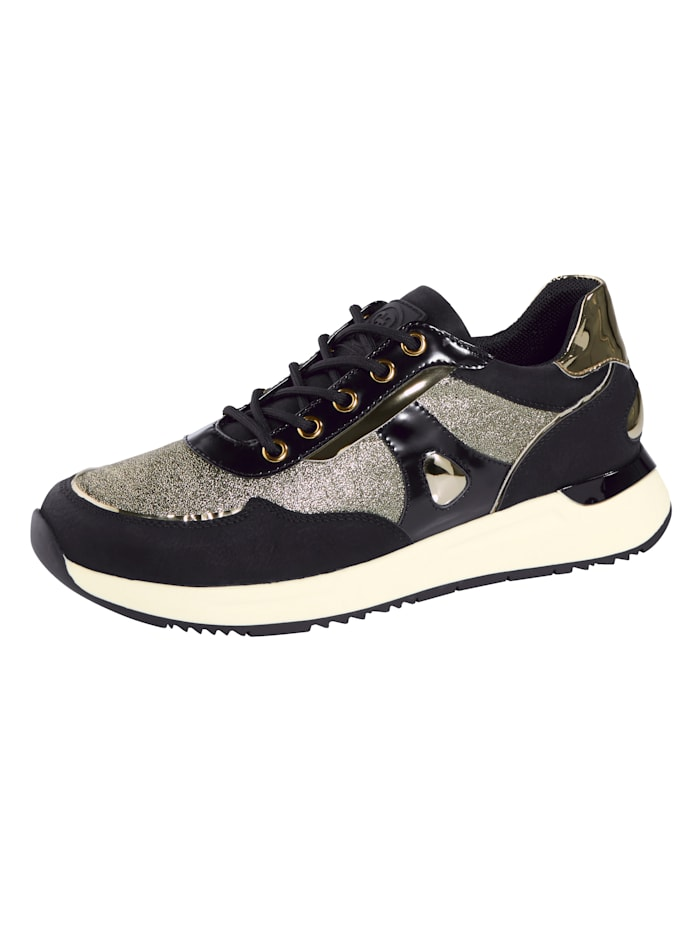 Liva Loop Sneakers en superbes matières mélangées, Noir