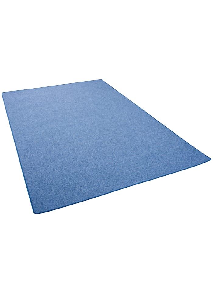 Snapstyle Feinschlingen Velour Teppich Strong, Blau