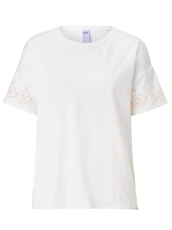 Skiny Pyjama-Oberteil, weiß