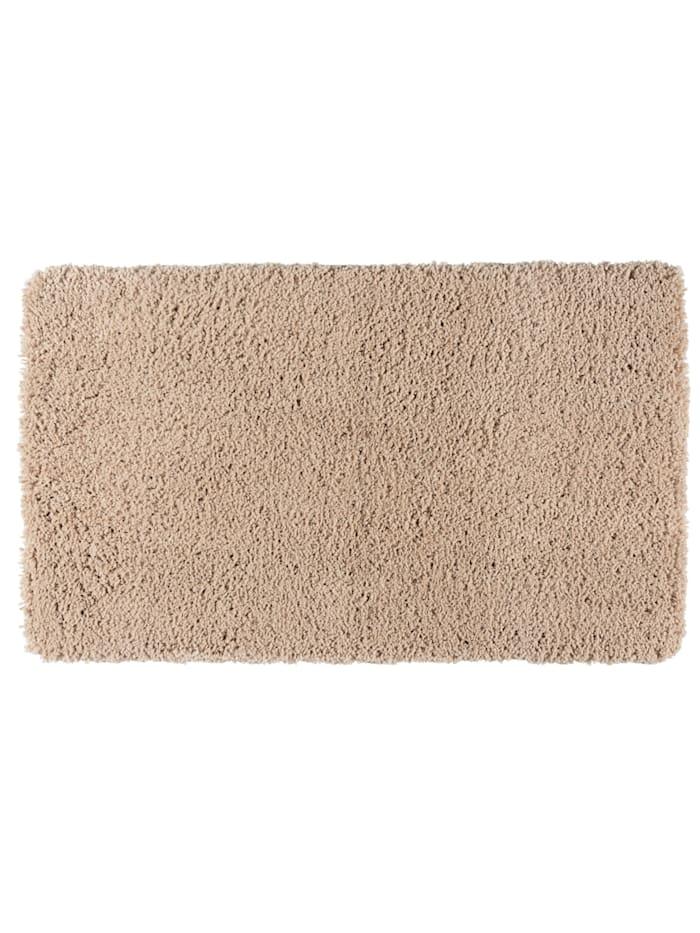 Wenko Badteppich Belize Sand, 70 x 120 cm, Mikrofaser, Polyester/Mikrofaser: Beige
