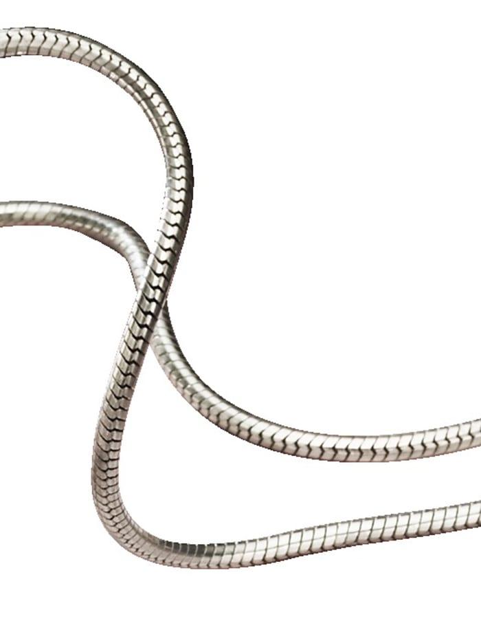 KLiNGEL Schlangenkette in Silber 925, Silberfarben