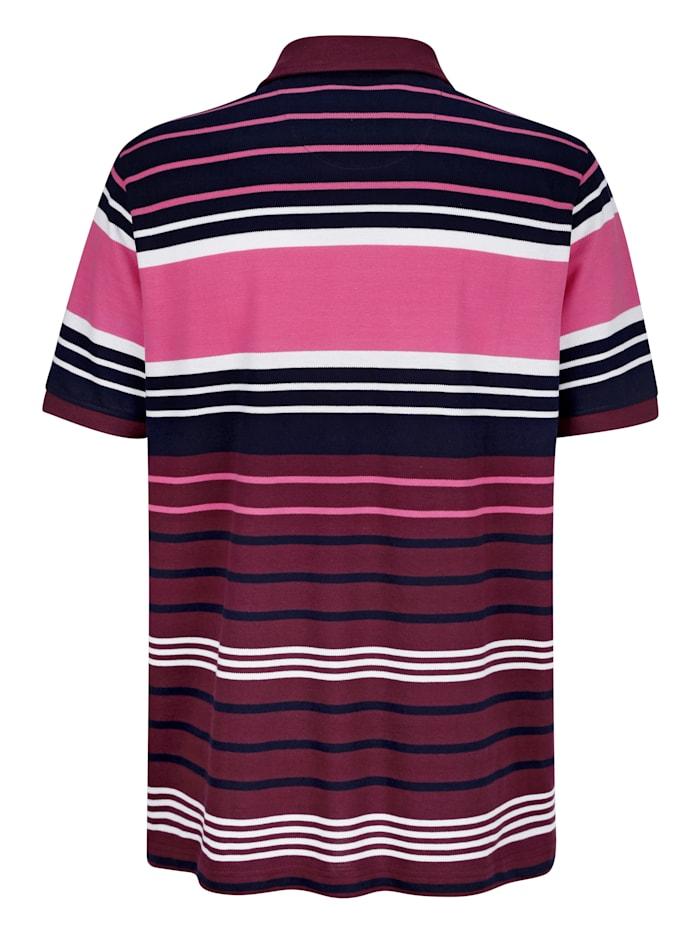 Tričko s prúžkovaným vzorom z farbenej priadze