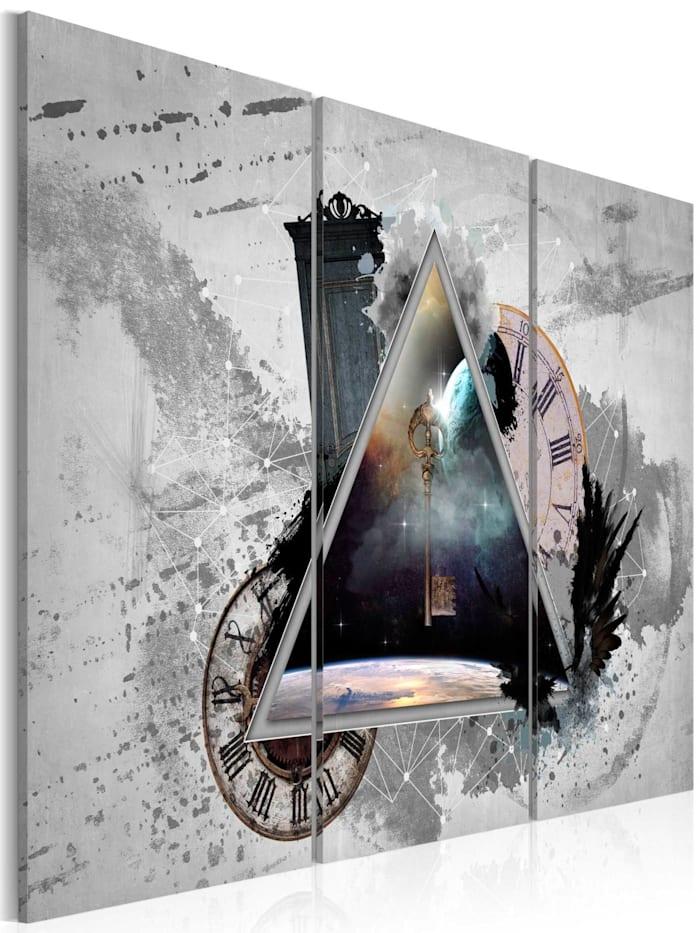 artgeist Wandbild Key to human thoughts, Braun,Grau,Weiß,Schwarz,Blau