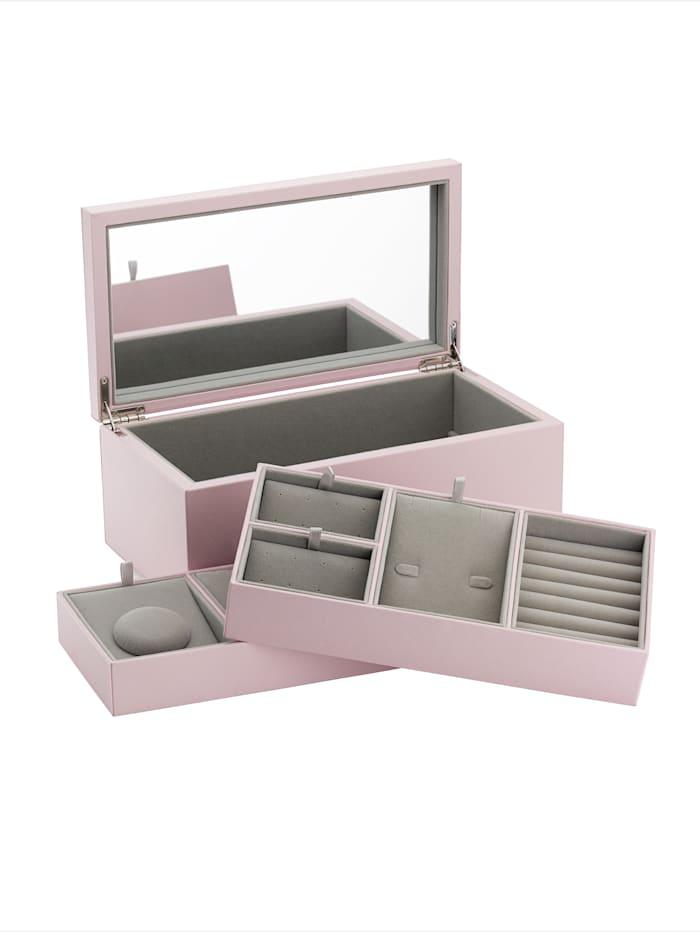 Schmuckbox Pandora aus rosefarbenem Lederimität - A005 -