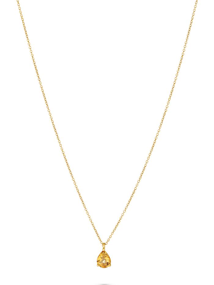 CHRIST C-Collection CHRIST Damen-Kette 375er Gelbgold 1 Citrin, gelb