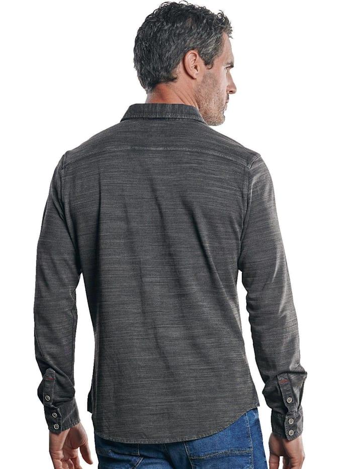 Poloshirt mit geflammter Optik