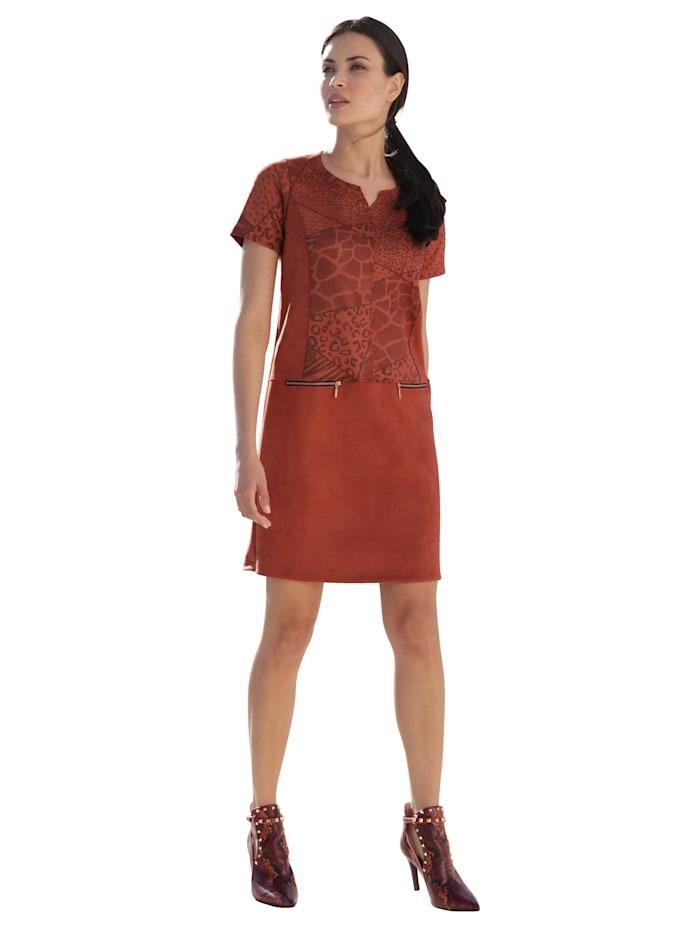 Kleid mit Animal-Muster im Oberteil