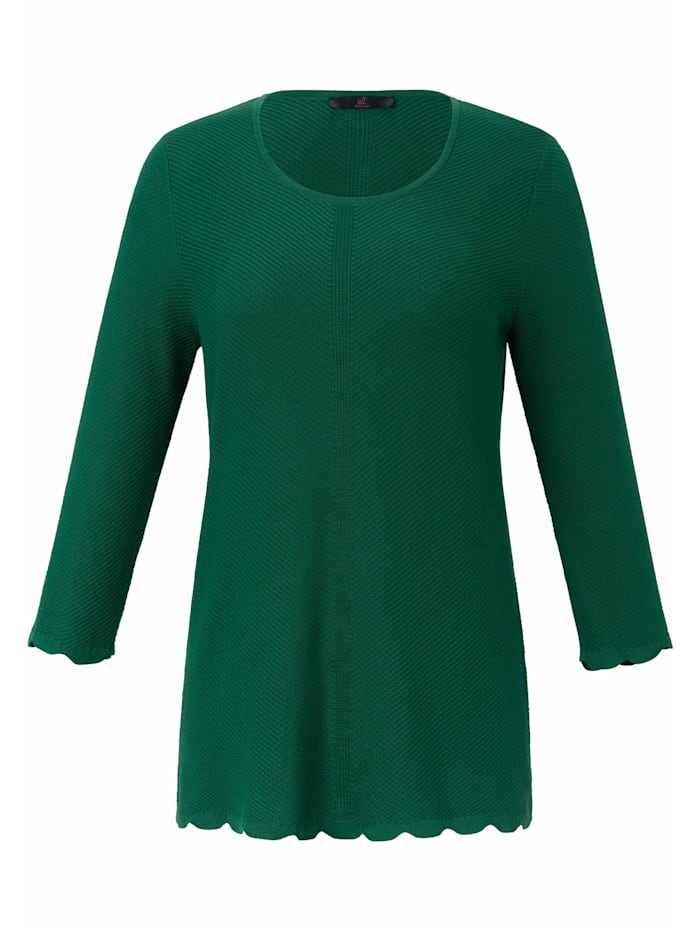 Emilia Lay Pullover mit 3/4-Arm, grün