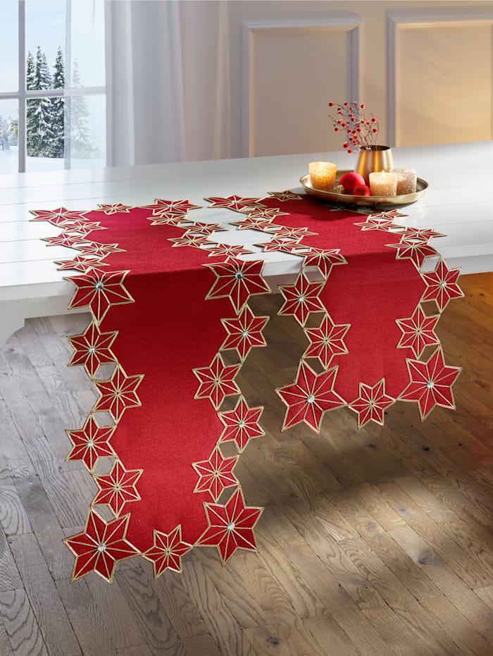 Webschatz Tafellinnen Lynn, rood/goudkleur