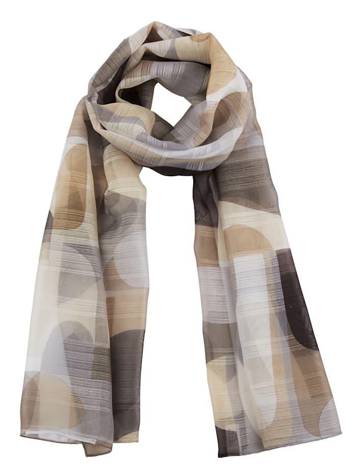 MONA Sjaaltje met subtiele glans, beige/taupe
