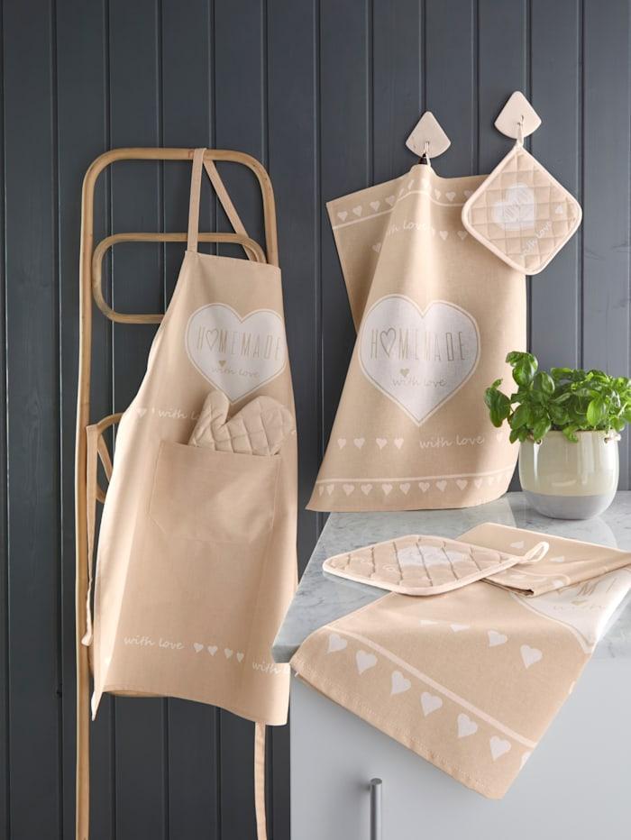 Kracht Kjøkkenhåndklær i 2-pk -HOMEMADE-, natur