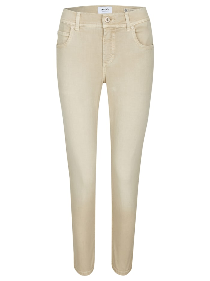 Angels Ankle-Jeans 'Ornella' im klassischen Five-Pocket-Style, sand used