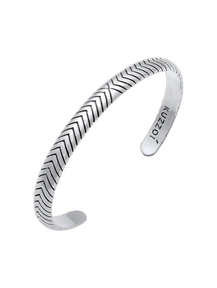 Armband Herren Armreif Oxidiert Offen Basic 925 Silber