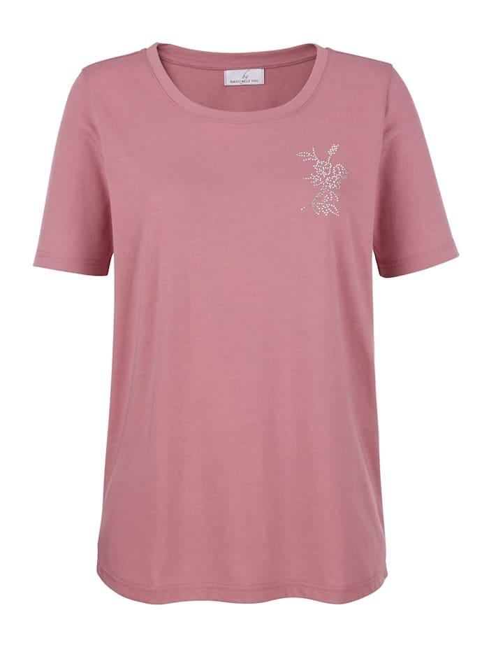 Shirt mit Steinchenverzierung