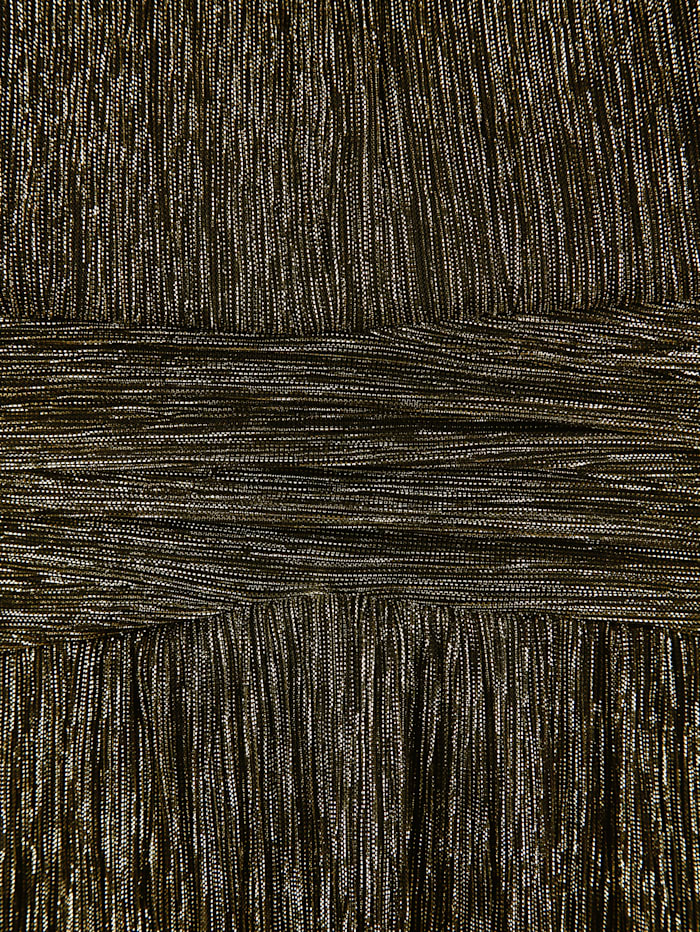 Longshirt aus glitzerndem Plissee