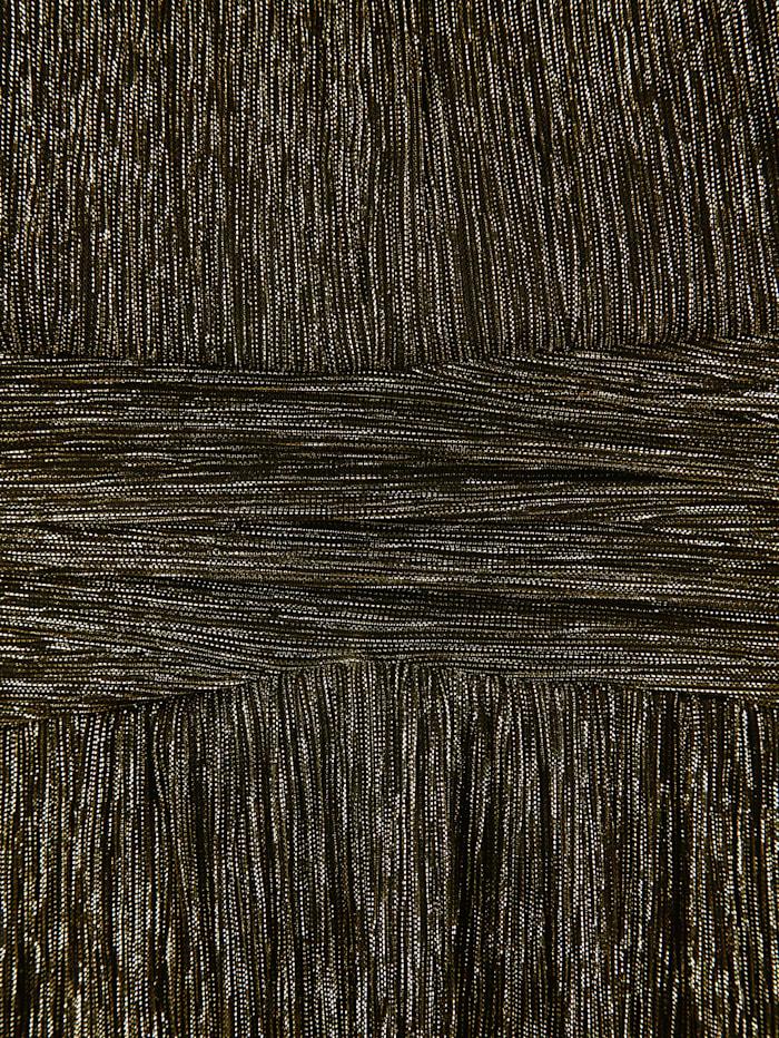 T-shirt long en matière plissée scintillante
