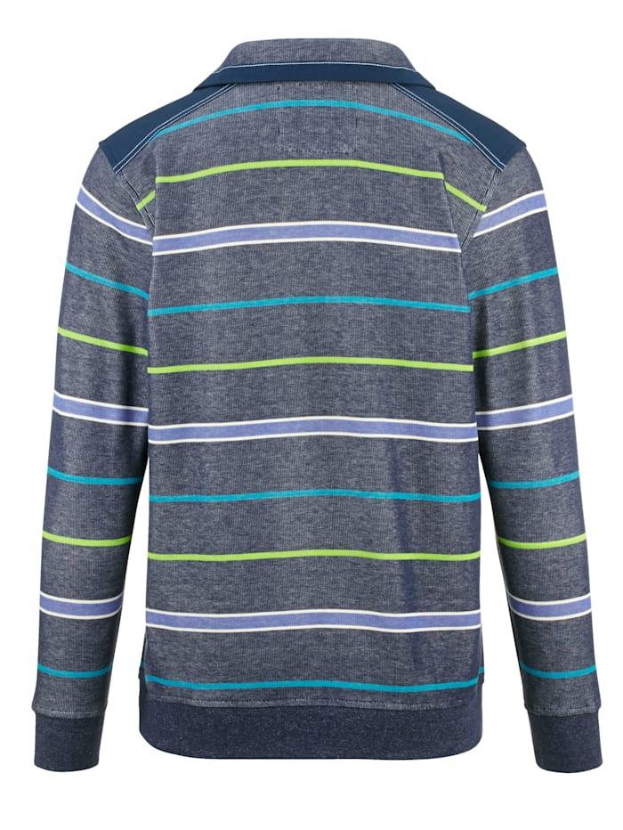 Sweatshirt i melerat material