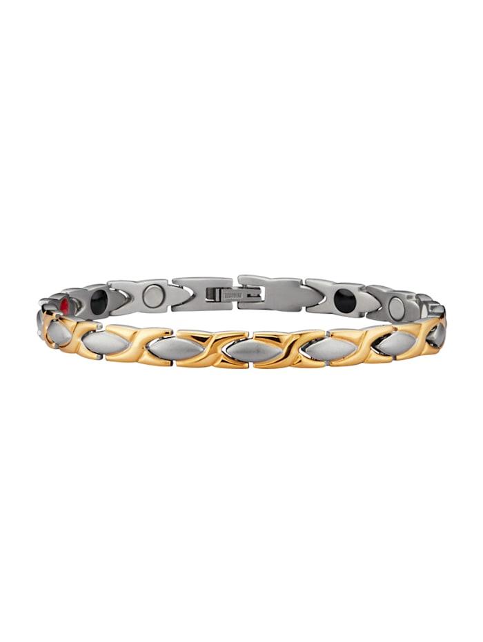 Magnetic Balance Armband aus Titan, Gelbgoldfarben