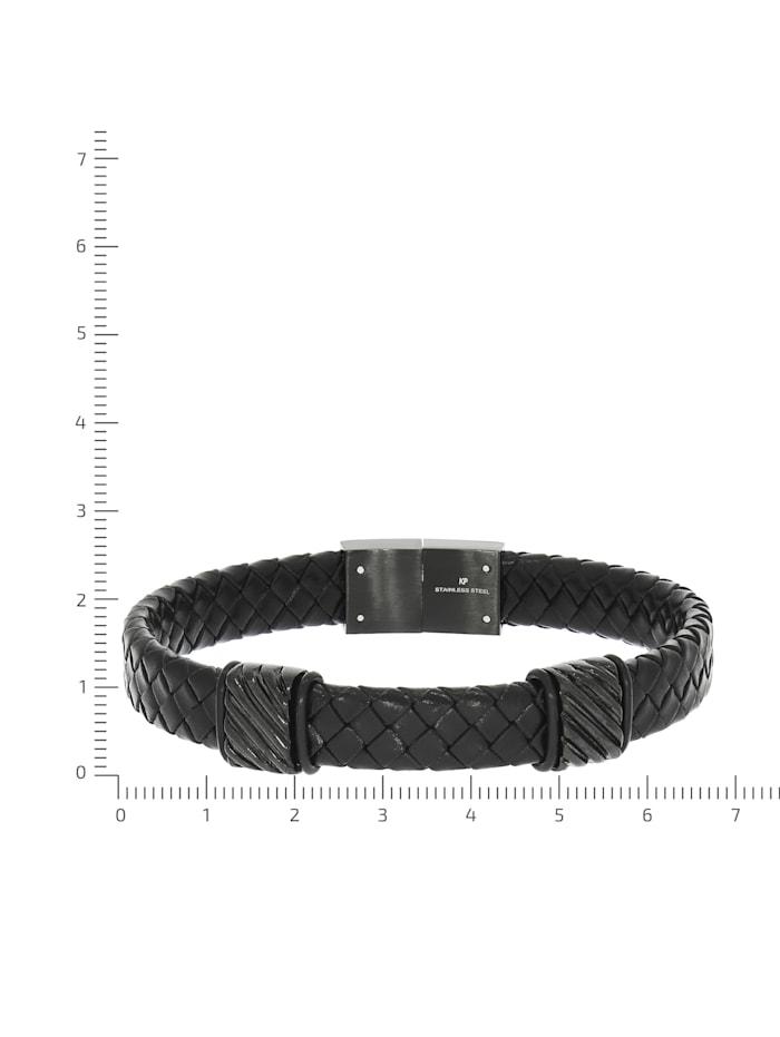 Armband Edelstahl 21,5cm Geschwärzt