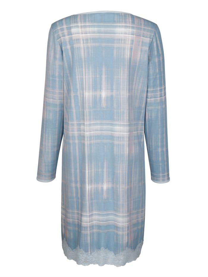 Nightdress with lace hem
