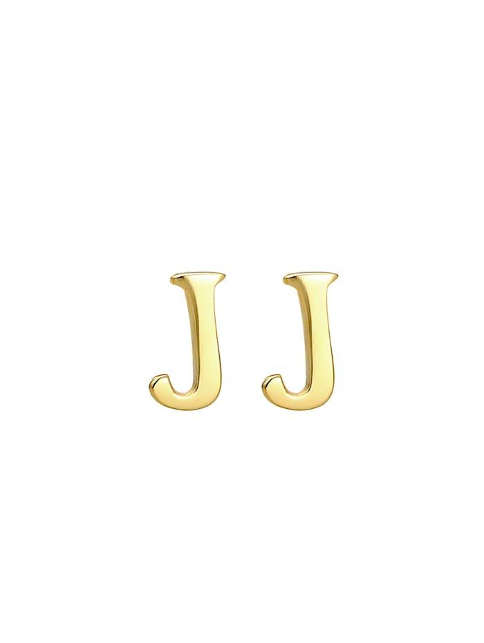 Ohrringe Stecker Buchstabe J Initialen Minimal 925 Silber